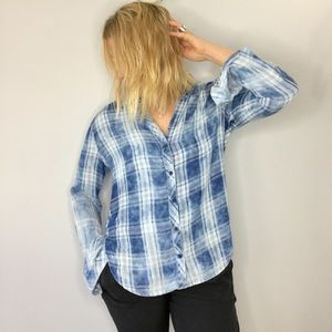 Cloth & Stone for Anthropologie plaid button down